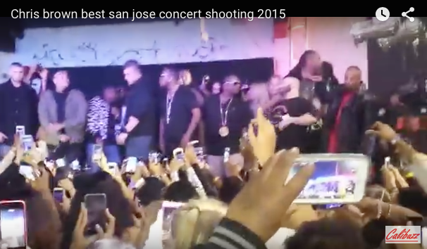 Shooting during Chris brown's Performance