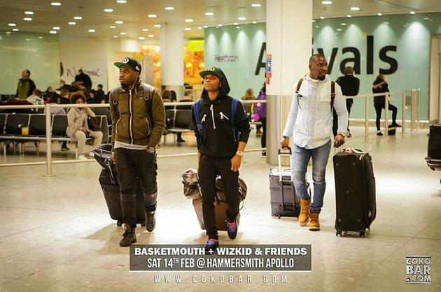 Our bae Wizkid is in London! Basketmouth & Friends