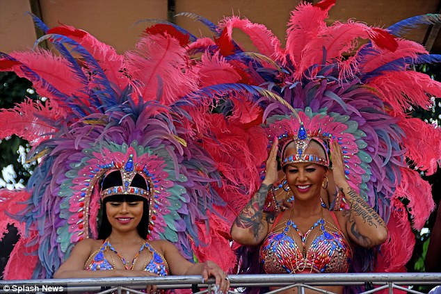 Besties Amber Rose & Blac Chyna Tun'up at Trinidad Carnival