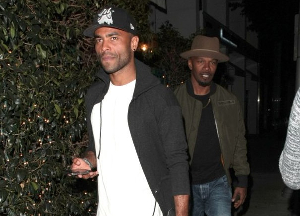 Former England player Ashley Cole dines with Hollywood star Jamie Foxx