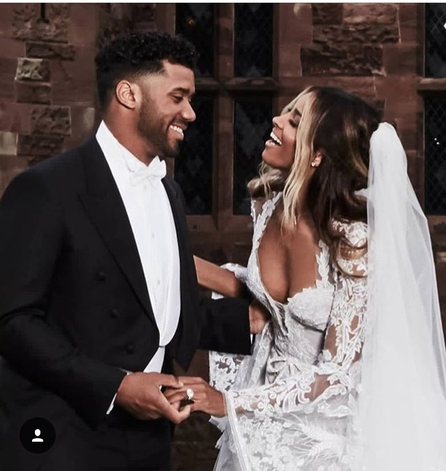 Ciara and Russell married