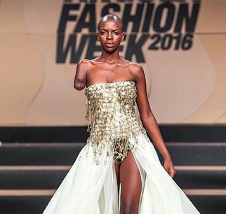 Angola Model Lumenni Bombo Stuns at Fashion