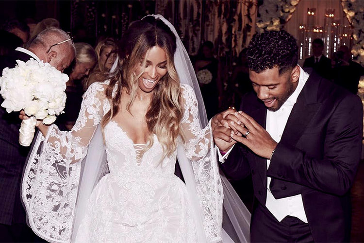 Ciara and Russell married 2