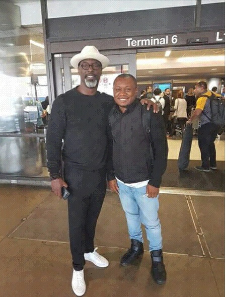 Camer Actor, Agbor Gilbert Spotted with Hollywood Actor Isaiah Washington.
