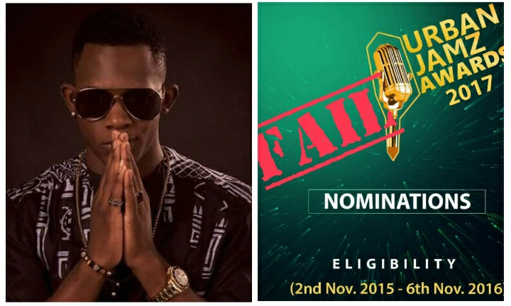Tenor tells Urban Jams Award to remove his name from the list of Norminees.