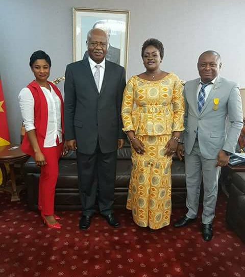 CFI/CAMIFF CEO Agbor Gilbert and Team visit Prime Minister Yang.