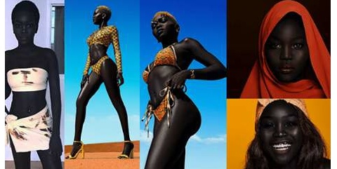 "Meet Sudanese Model Dubbed ""Queen Of The Dark"" Who Refused $10,000 Offer To Bleach Her Skin"