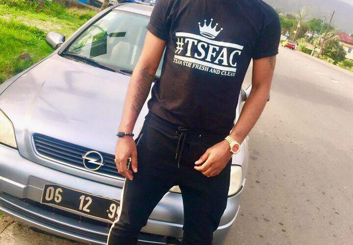 Buea Socialite T-Pana Wynchester accused of Wearing Fake Balenciaga Sneakers.