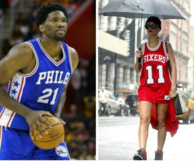 Fans Flood Rihanna's Instagram page Calling on her to date Camer born NBA star Joel Embiid.