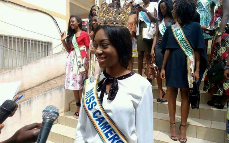 Caroline Nseke Miss Cameroon 2018 explains in a communiqué why she could not sing the national anthem well. See below