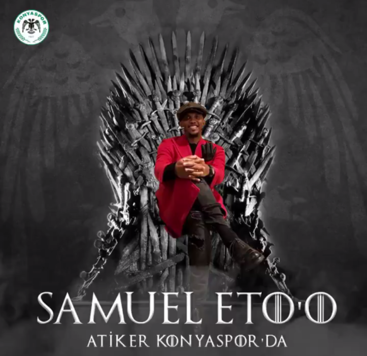 Video:Eto'o welcomed in Konyaspor with Game of Thrones-inspired video