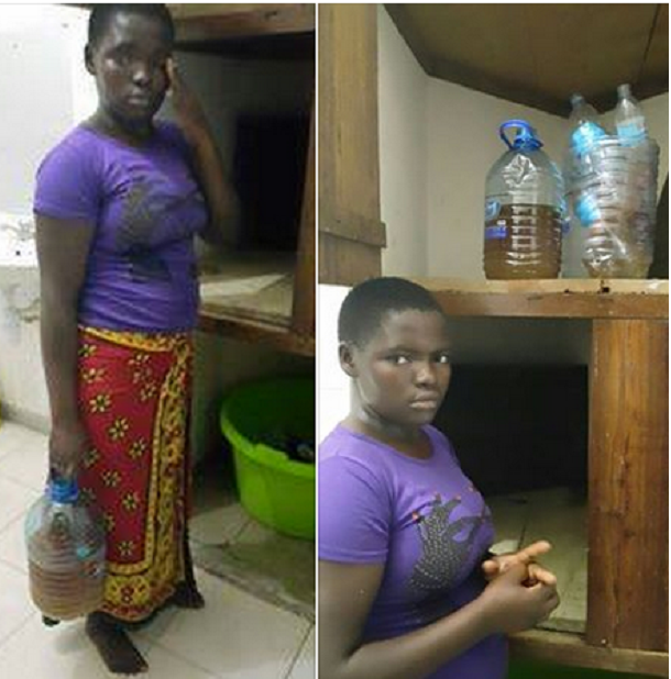 Abomination: A maid was arrested for using her urine to prepare meal for her boss and family. details