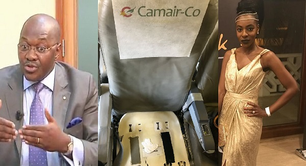 Camair-co bans a lady from taking their planes because she took pics of their bad plane seats.