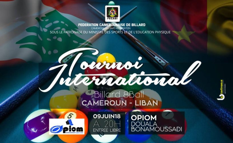 EVENT: International billiard; a friendly tournament between Cameroon and Lebanon. Details below