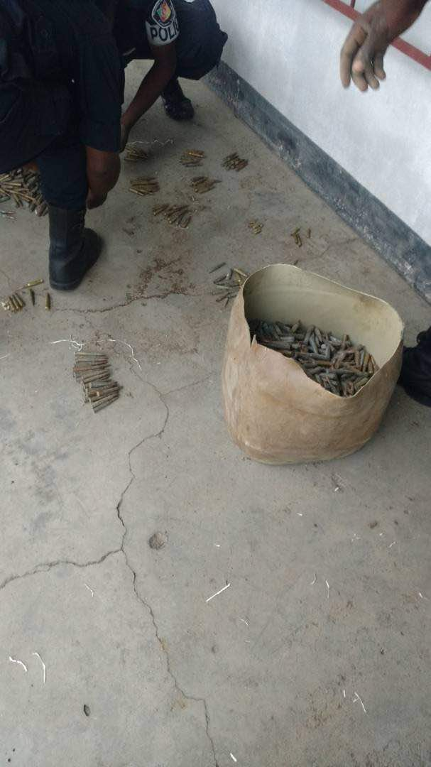 A Police Inspector in Mutengene was caught with large quantity of ammunitions and light weapons.