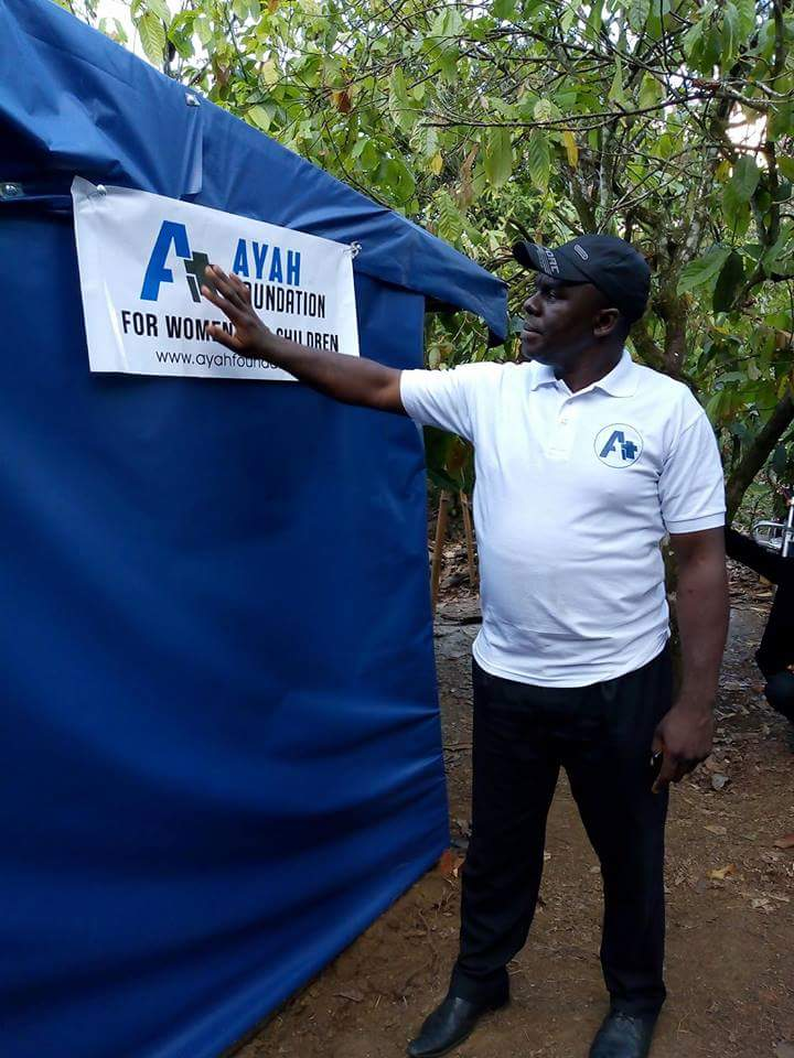 Images:The Ayah Ayah Foundation provides shelters for People in the bush.