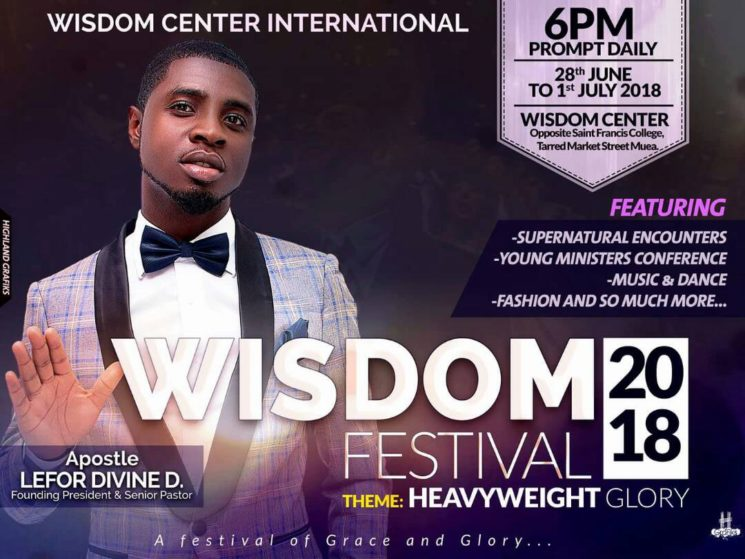 "Religion: Wisdom Festival set for June 28th with Apostle Lefor Devine ""Heavyweight Glory"" as theme."