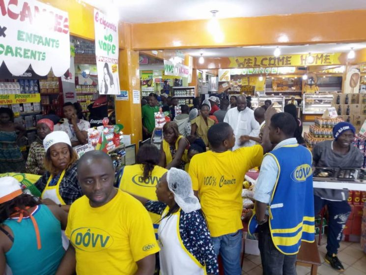 Dovv supermark reacts to rumours of a lady with two billions frs cfa, settling the bill of their customers.