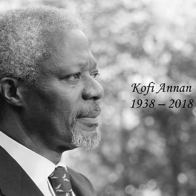 Former UN SG and Nobel Peace Prize winner, Koffi Annan is no more.