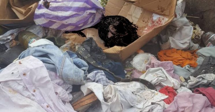 The Head of a Child discovered in a Trash can in Yaounde.