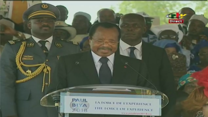 Paul Biya Promise to crush secessionists after October 7th Victory.