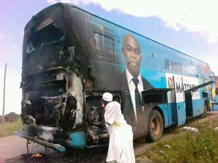 """Video: """"After receiving threats, my bus caught fire the next day"""" Presidential candidate Serge Espoir Matomba"""